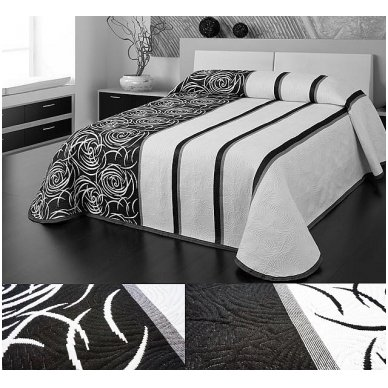 "Dvipusė lovatiesė ""Modernus Šuolis"", 250x260 cm (juoda-balta) 2"