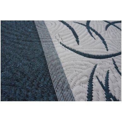 "Dvipusė lovatiesė ""Modernus Šuolis"", 250x260 cm (mėlyna-balta) 2"