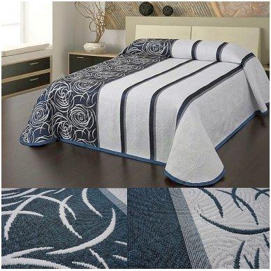 "Dvipusė lovatiesė ""Modernus Šuolis"", 250x260 cm (mėlyna-balta) 3"