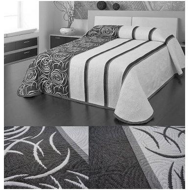 """Dvipusė lovatiesė """"Modernus Šuolis"""", 250x260 cm (pilka-balta) 3"""
