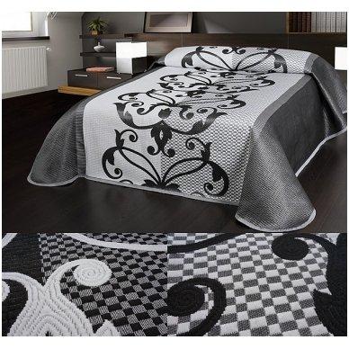 "Dvipusė lovatiesė ""Raštų Vingiai"", 250x260 cm 3"