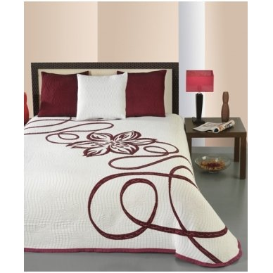 "Dvipusė lovatiesė ""Raudona Elegancija"", 250x260 cm 4"