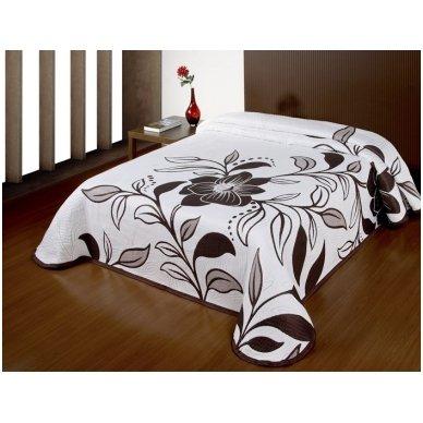 "Dvipusė lovatiesė ""Tobulas Grožis"", 250x260 cm (ruda) 3"