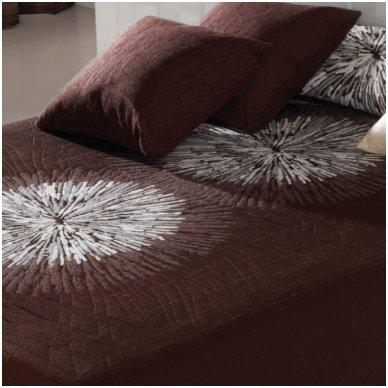 """Dvipusis lovos užtiesalas """"Brown"""", 250 x 270 cm."""