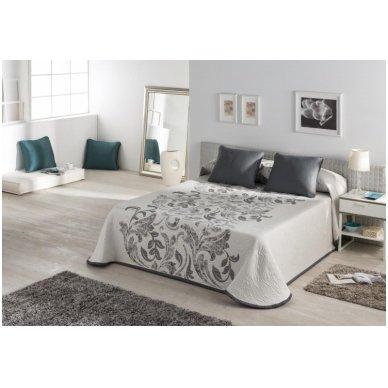 "Dvipusis lovos užtiesalas ""Evana"", 250x270 cm (pilka) 2"