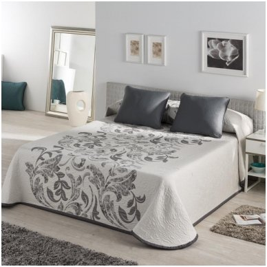 "Dvipusis lovos užtiesalas ""Evana"", 250x270 cm (pilka)"
