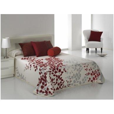 "Dvipusis lovos užtiesalas ""Geiša"", 250x270 cm (raudona) 2"