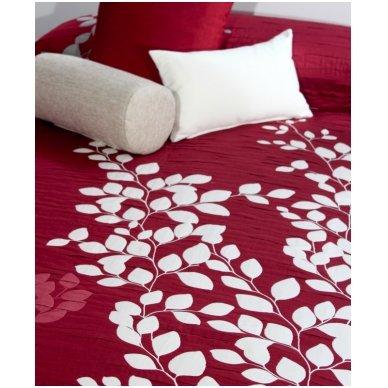 "Dvipusis lovos užtiesalas ""Geiša"", 250x270 cm (raudona) 3"