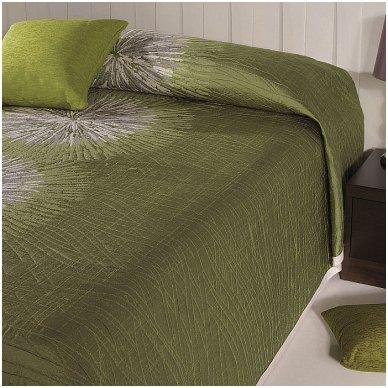 "Dvipusis lovos užtiesalas ""Green"", 250 x 270 cm."