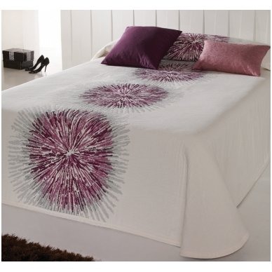 "Dvipusis lovos užtiesalas ""Purple"", 250 x 270 cm. 2"