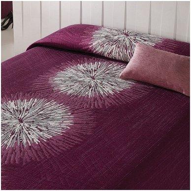 "Dvipusis lovos užtiesalas ""Purple"", 250 x 270 cm."