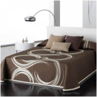 """Dvipusis lovos užtiesalas """"Šokolado Spalvos"""", 250x270 cm"""
