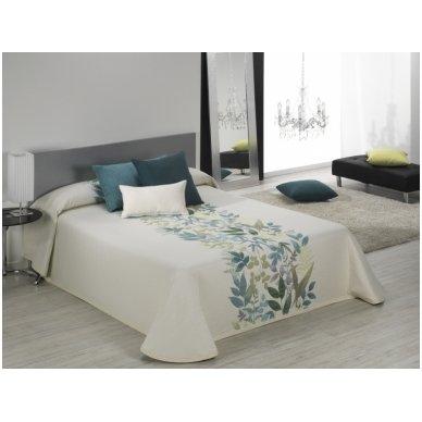 """Dvipusis lovos užtiesalas """"Taba"""", 250x270 cm (žalsva) 2"""