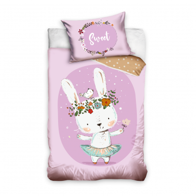 "Dvipusis patalynės komplektas ""Sweet Bunny"", 100x135 cm"