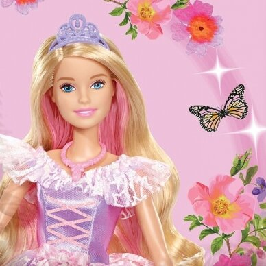 "Dvipusis patalynės komplektas ""Barbie"", 140x200 cm 2"