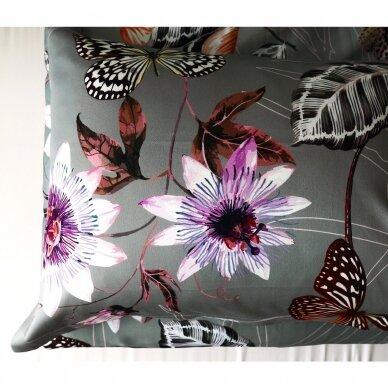 """Dvipusis patalynės komplektas """"Butterfly Effect"""" (grey) 3"""
