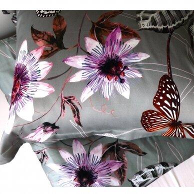 """Dvipusis patalynės komplektas """"Butterfly Effect"""" (grey) 2"""