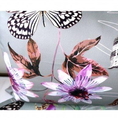 """Dvipusis patalynės komplektas """"Butterfly Effect"""" (grey) 6"""