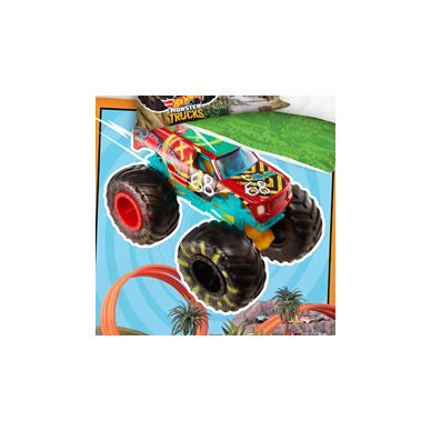 "Dvipusis patalynės komplektas ""Hot Wheels"", 140x200 cm 2"
