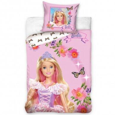 "Dvipusis patalynės komplektas ""Barbie"", 140x200 cm"