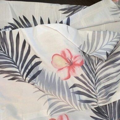 """Dvipusis patalynės komplektas """"Tropikų gėlės"""", 4 dalių, 200x220 cm 4"""