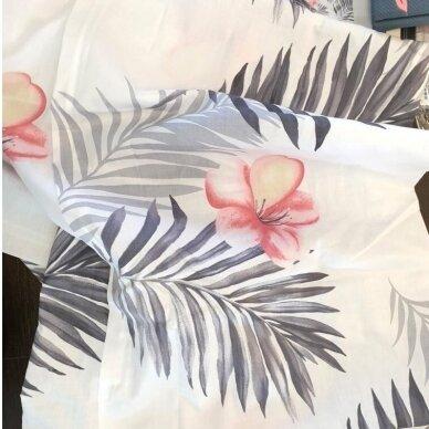 """Dvipusis patalynės komplektas """"Tropikų gėlės"""", 4 dalių, 200x220 cm 2"""