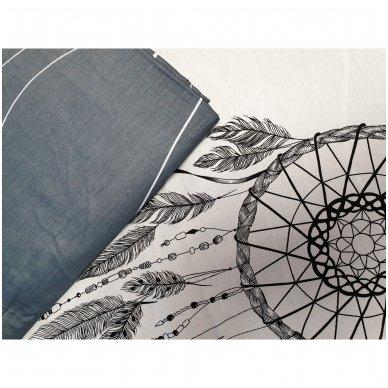"""Dvipusis patalynės komplektas """"Indėniškas sapnas"""", 4 dalių, 200x220 cm 4"""