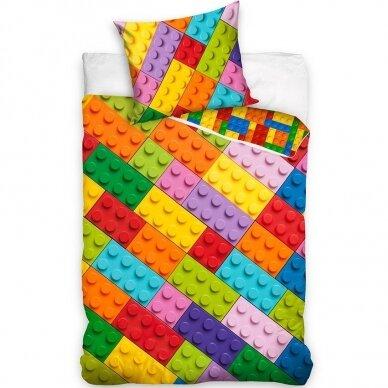 """Dvipusis patalynės komplektas """"Lego play"""", 140x200 cm"""