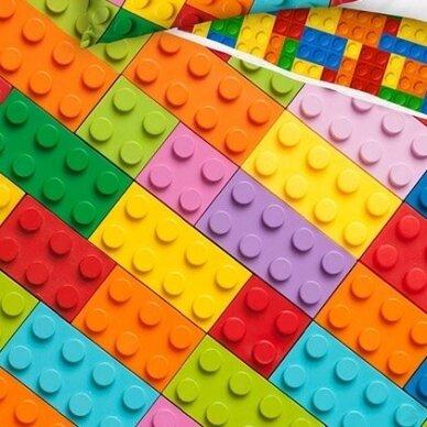 """Dvipusis patalynės komplektas """"Lego play"""", 140x200 cm 2"""