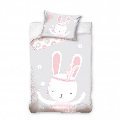 "Dvipusis patalynės komplektas ""Little Bunny"", 100x135 cm"