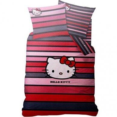 "Dvipusis patalynės komplektas ""Hello Kitty"", 140x200 cm"