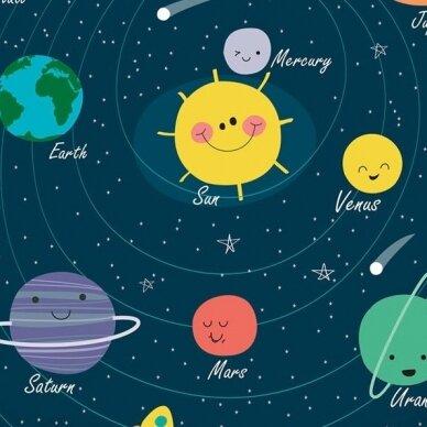 """Dvipusis patalynės komplektas """"Planets"""", 140x200 cm 2"""
