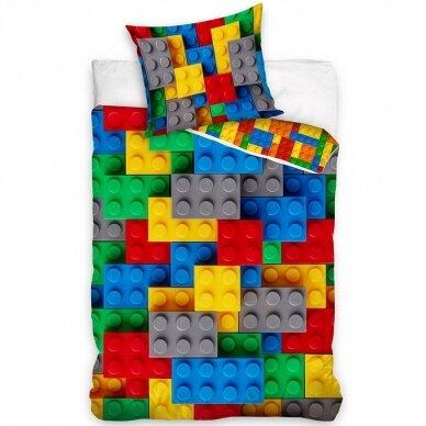 """Dvipusis patalynės komplektas """"Lego"""", 140x200 cm"""