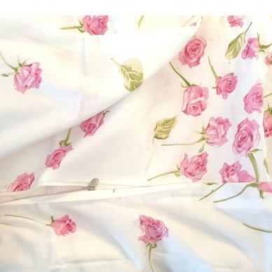 """Dvipusis patalynės komplektas """"Rožiniai žiedeliai"""", 2 dalių, 140x200 cm 5"""