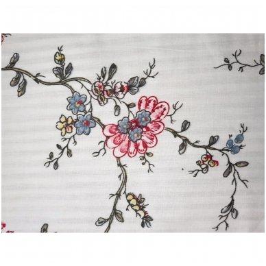 """Dvipusis patalynės komplektas """"Rožių šakelės"""", 2 dalių, 140x200 cm 4"""