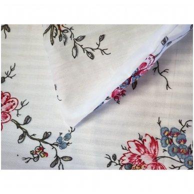 """Dvipusis patalynės komplektas """"Rožių šakelės"""", 2 dalių, 140x200 cm 3"""