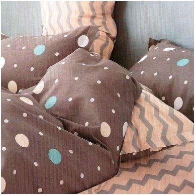"""Dvipusis patalynės komplektas """"Klasiškas miegas"""", 4 dalių, 200x220 cm 2"""