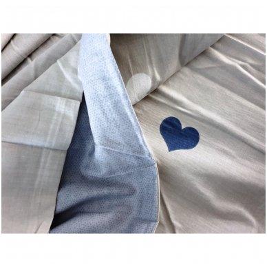 """Dvipusis patalynės komplektas """"Širdelių prisilietimas"""", 4 dalių, 200x220 cm 5"""