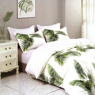 """Dvipusis patalynės komplektas """"Baltieji tropikai"""", 2 dalių, 140x200 cm"""