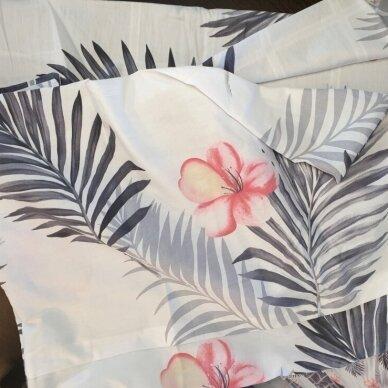 """Dvipusis patalynės komplektas """"Tropikų gėlės"""", 2 dalių, 140x200 cm 3"""