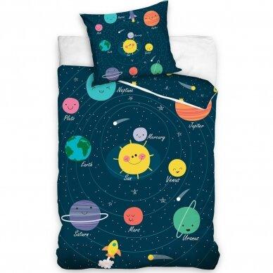 """Dvipusis patalynės komplektas """"Planets"""", 140x200 cm"""