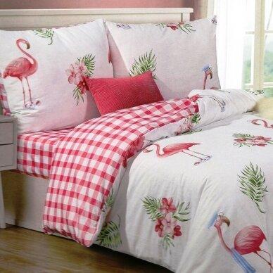 """Dvipusis patalynės komplektas """"Flamingas"""", 2 dalių, 140x200 cm"""
