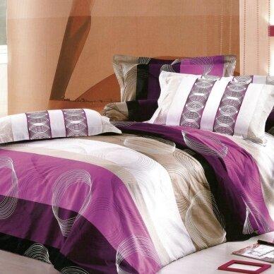"""Dvipusis patalynės komplektas """"Violetinė Pasaka"""", 3 dalių, 200x220 cm"""