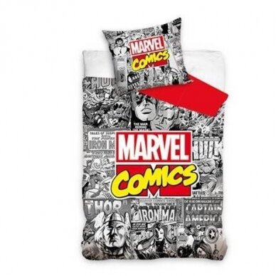 """Dvipusis patalynės komplektas """"Marvel Comics"""", 140x200 cm"""