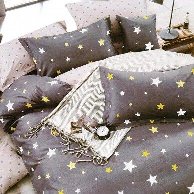 """Dvipusis patalynės komplektas """"Spalvotos žvaigždutės"""", 2 dalių, 140x200 cm"""