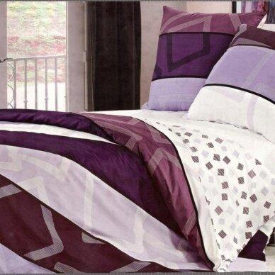 """Dvipusis patalynės komplektas """"Violetinė Klasika"""", 4 dalių, 200x220 cm"""