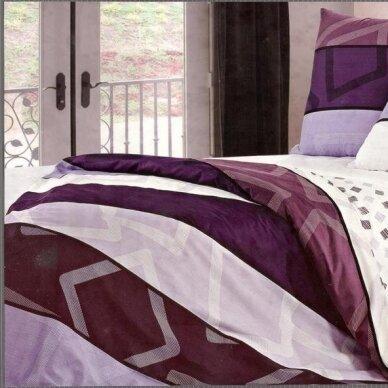 """Dvipusis patalynės komplektas """"Violetinė Klasika"""", 4 dalių, 200x220 cm 2"""
