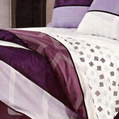 """Dvipusis patalynės komplektas """"Violetinė Klasika"""", 4 dalių, 200x220 cm 3"""