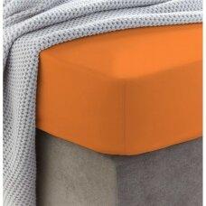Frotinė paklodė su guma (Oranžinė)