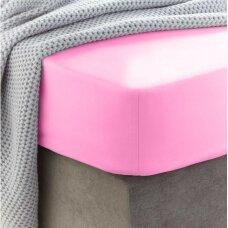 Frotinė paklodė su guma (Rožinė)